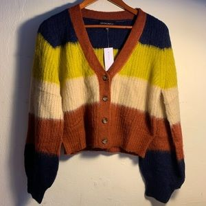 Funky Colorblocked Cardigan